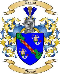 Cerna Family Crest from Spain by The Tree Maker.