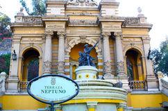 Cerro Santa Lucia In Downtown Santiago, Chile Stock Photo.