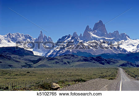 Stock Image of Fitz Roy and Cerro Torre k5102765.
