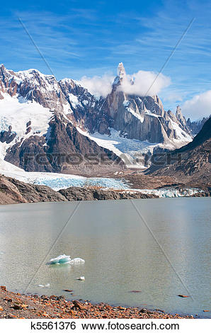 Stock Images of Cerro Torre mountain, Patagonia, Argentina.