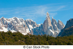 Stock Photo of Cerro Torre Peaks, El Chalten, Argentina.
