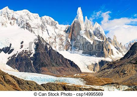 Stock Image of Famous Cerro Torre in Los Glaciares National Park.