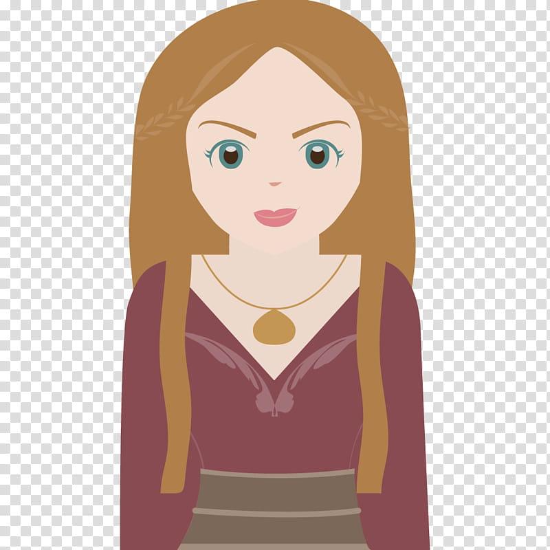 Cersei Lannister Cartoon transparent background PNG clipart.