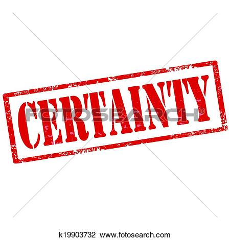 Clipart of Certainty.