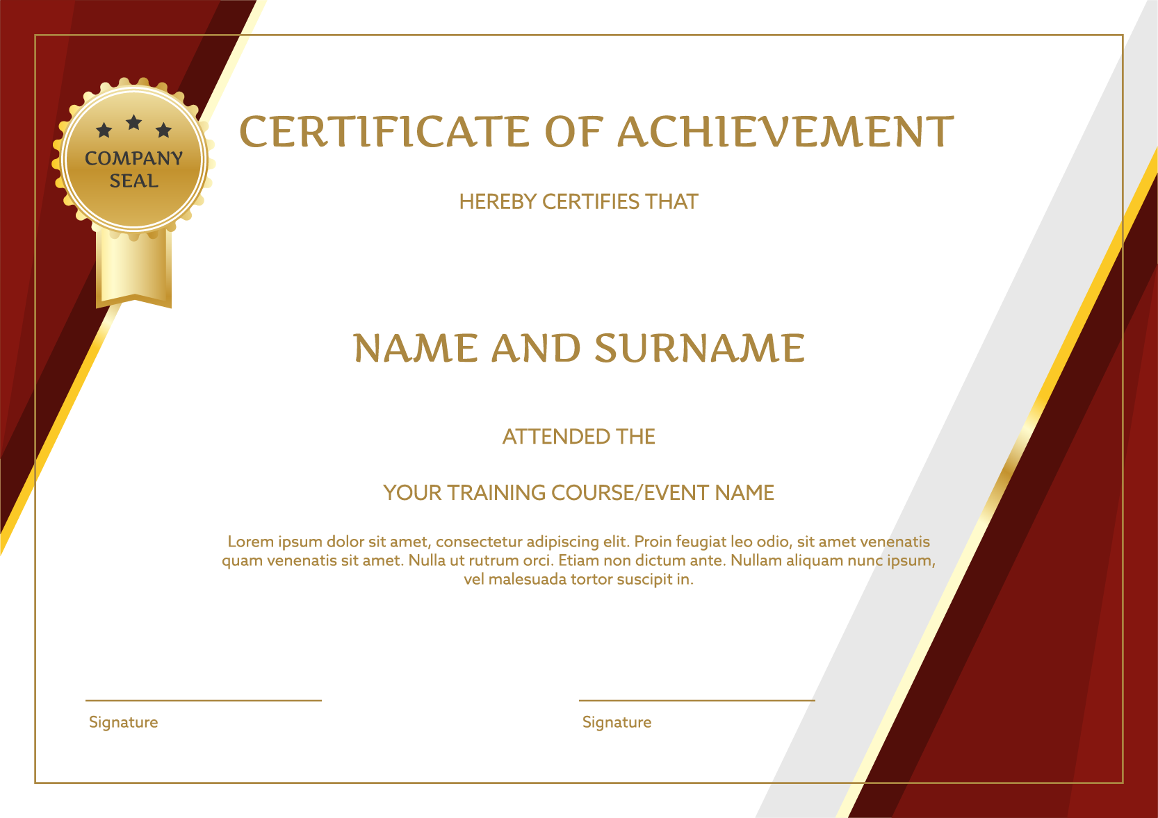 Certificate PNG Images Transparent Free Download.