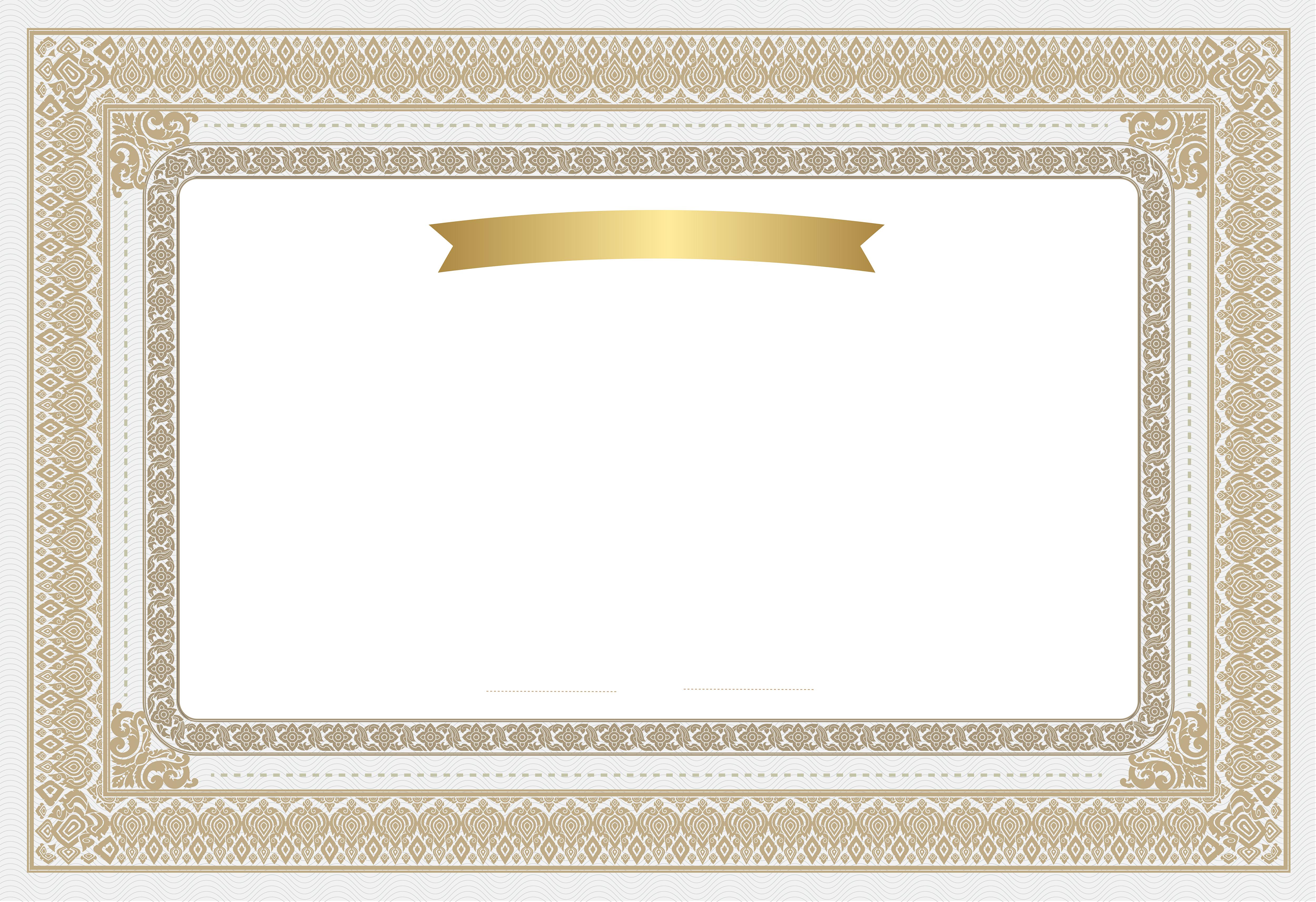 Empty Certificate Clip Art Image.