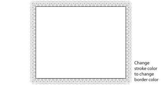 Certificate Border Design.