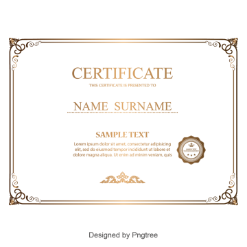 Certificate Border PNG Images.