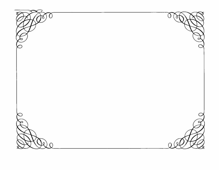 Decoration Clipart Fancy Border Frame.