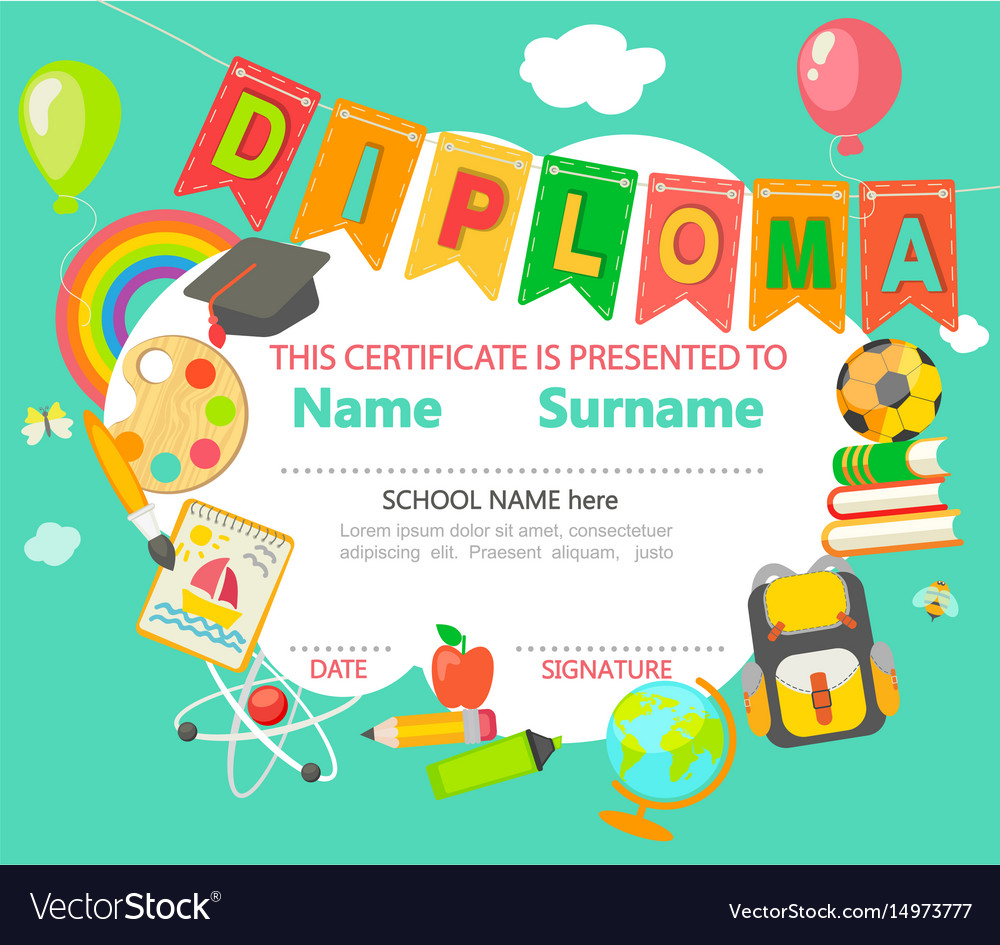 Diploma certificate background.