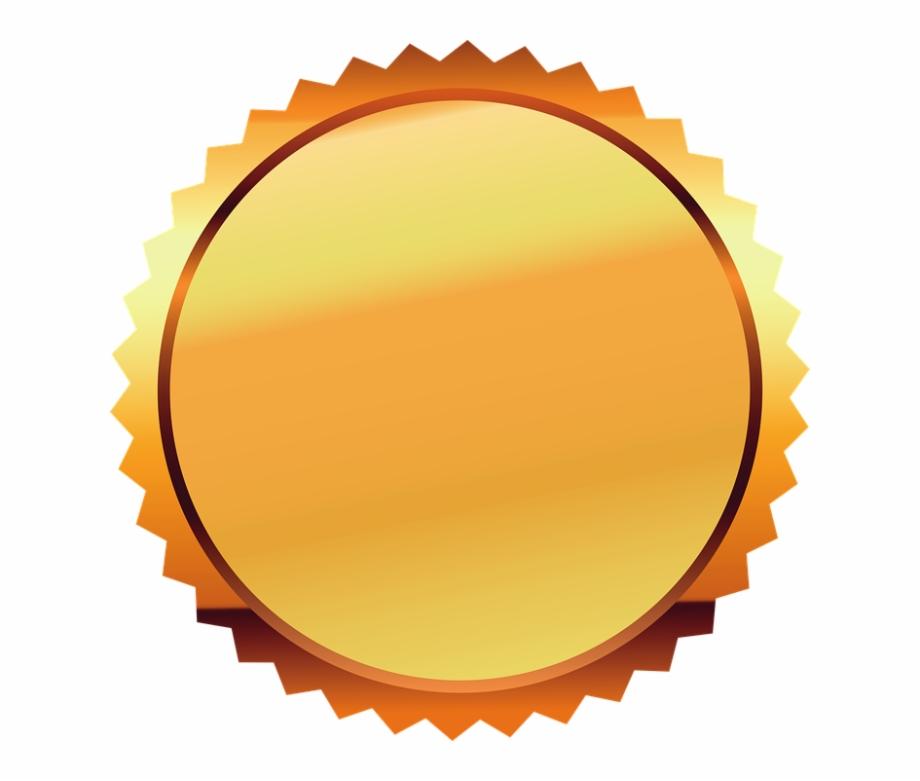 Seal Gold Certificate Award Gold Seal Label Ribbon.