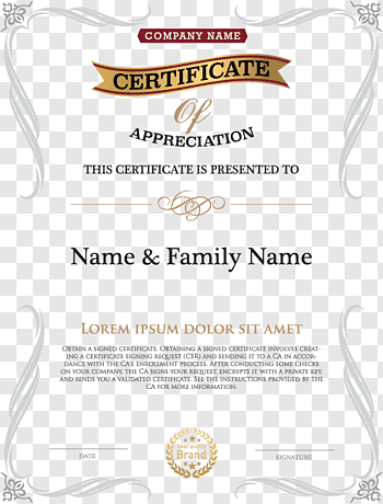 Certificate Of Authorization cutout PNG & clipart images.