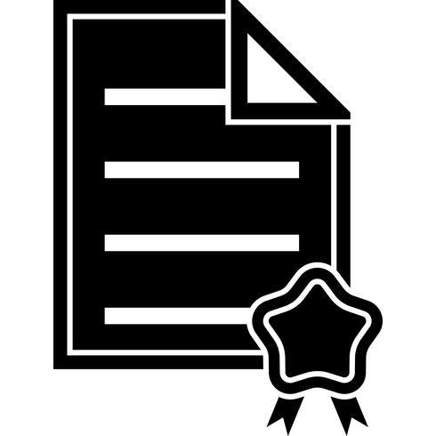 Certificate Icon Vector.