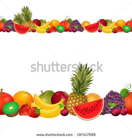 Fruit Border Stock Photos, Royalty.