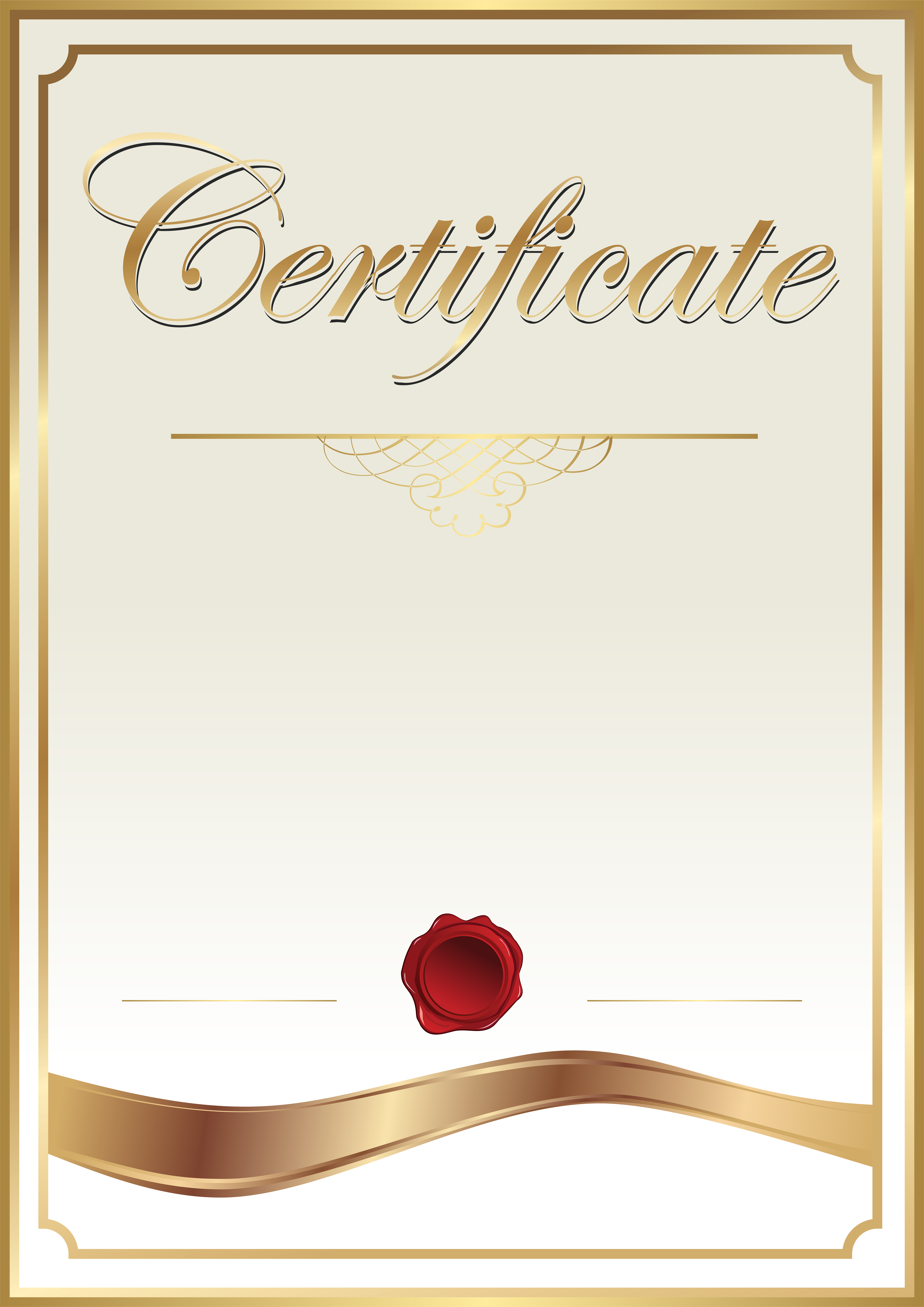 Certificate Template Clip Art PNG Image.