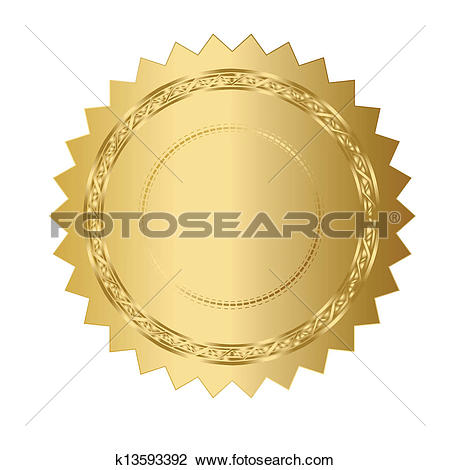 Silver Clipart Certificate Seal.