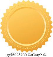 Blank Certificate Seal Clip Art.
