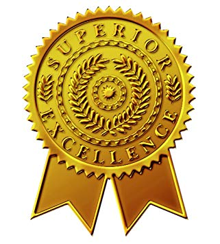 Great Papers! Starburst Ribbon Embossed and Gold Foil Certificate.