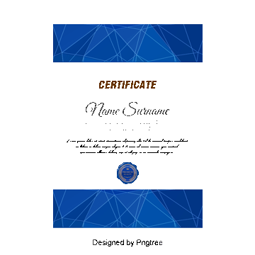 Certificate PNG Images.