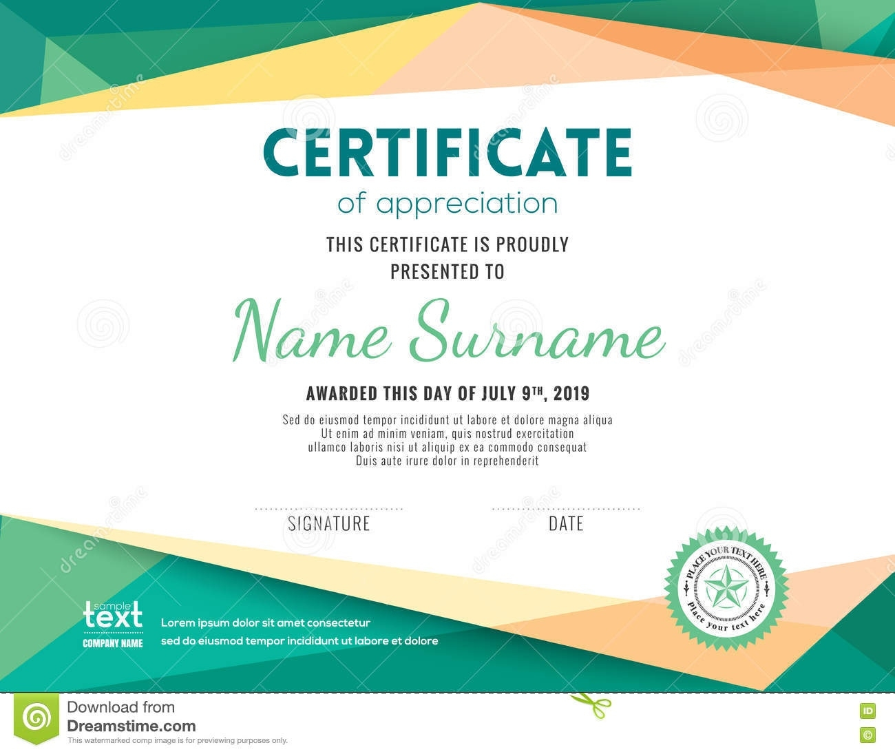 Certificate Background Vector Png 6.