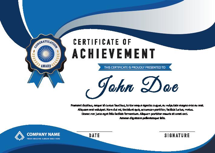 HD Free Png Achievement Certificates.