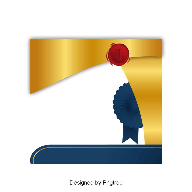 Golden Badge Certificate, Badge Vector, Certificate Vector, Vector.