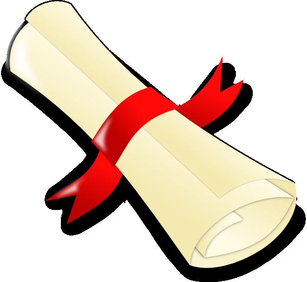 Certificate clipart.