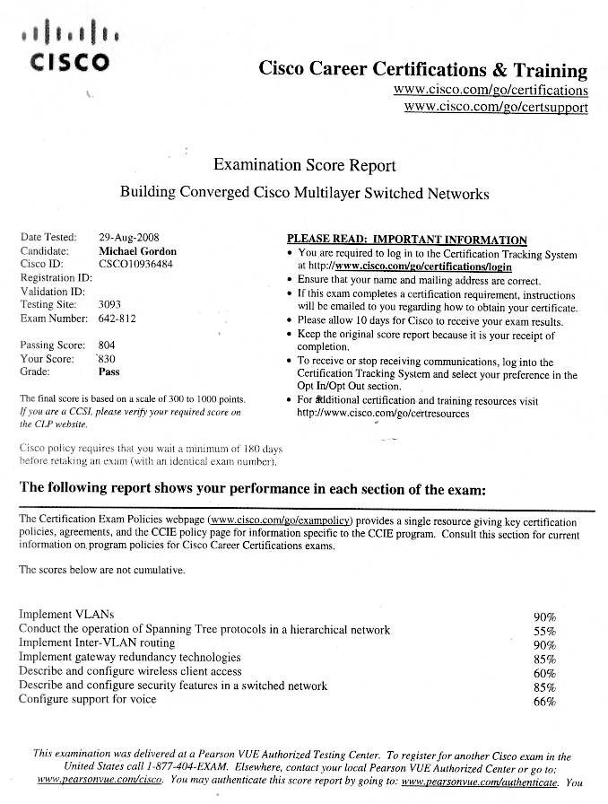 Cissp certification resume example.