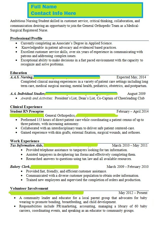 Instructor Says Resume is Wrong, Please Help With Content..