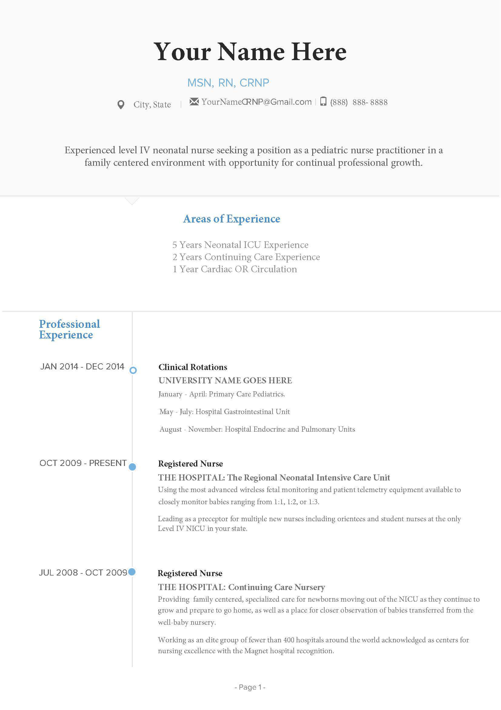 Nurse Practitioner Resume Guide.
