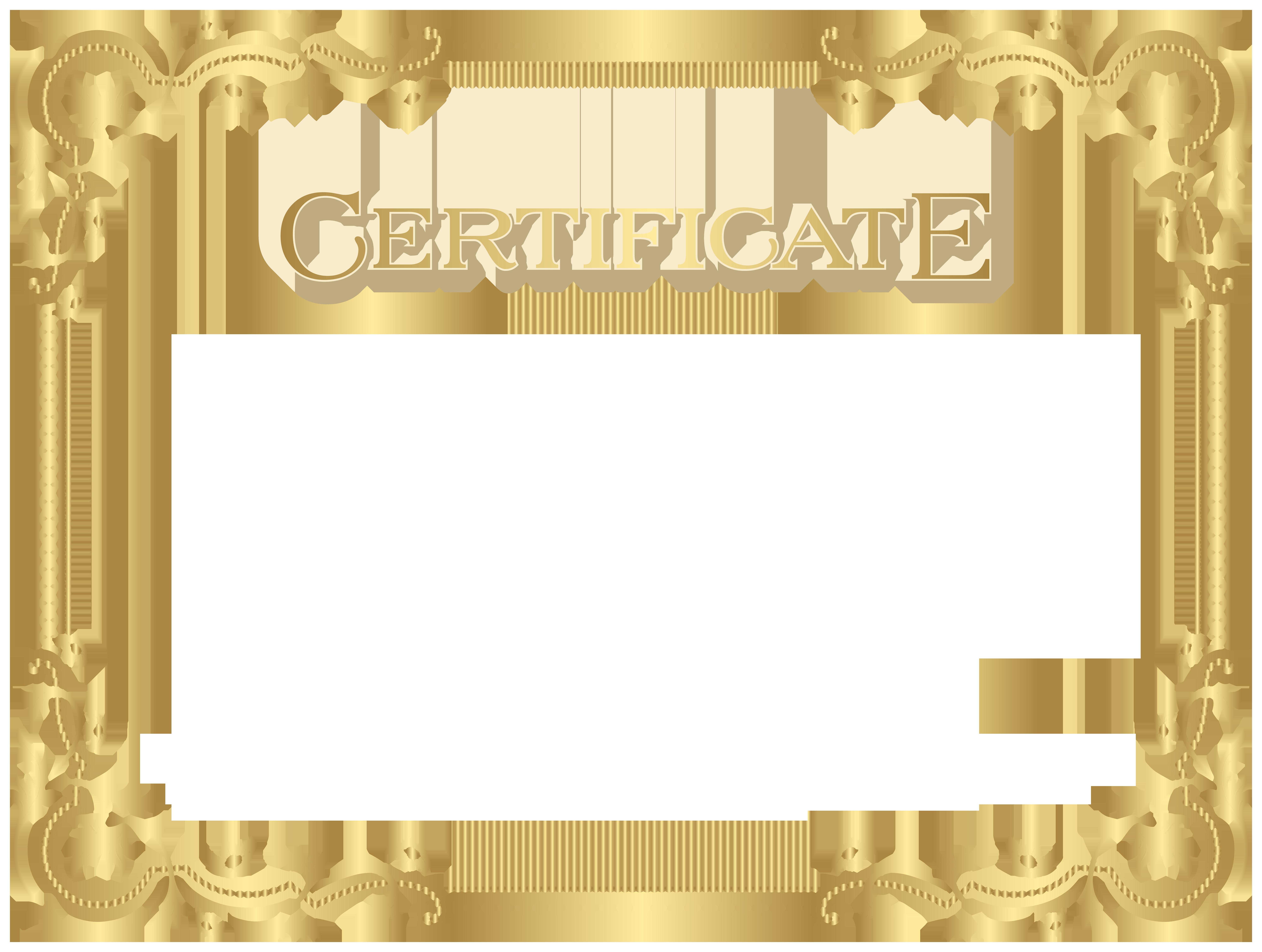 Transparent Certificate Template Clip Art Image.