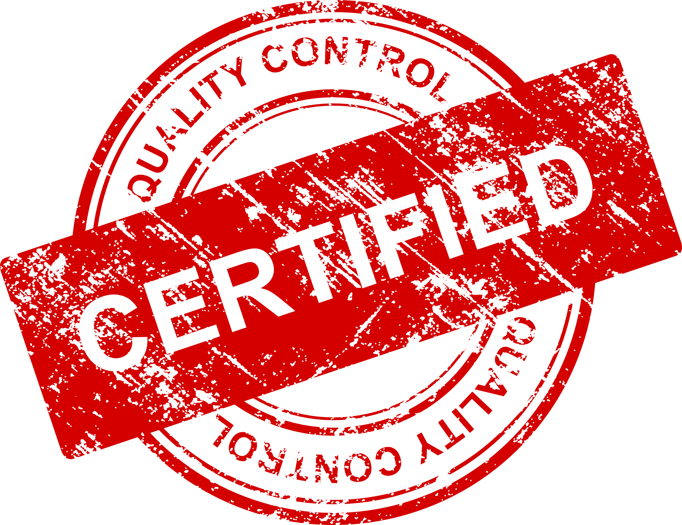 4 Quality Control Certified Stamp Vector (PNG Transparent, SVG.