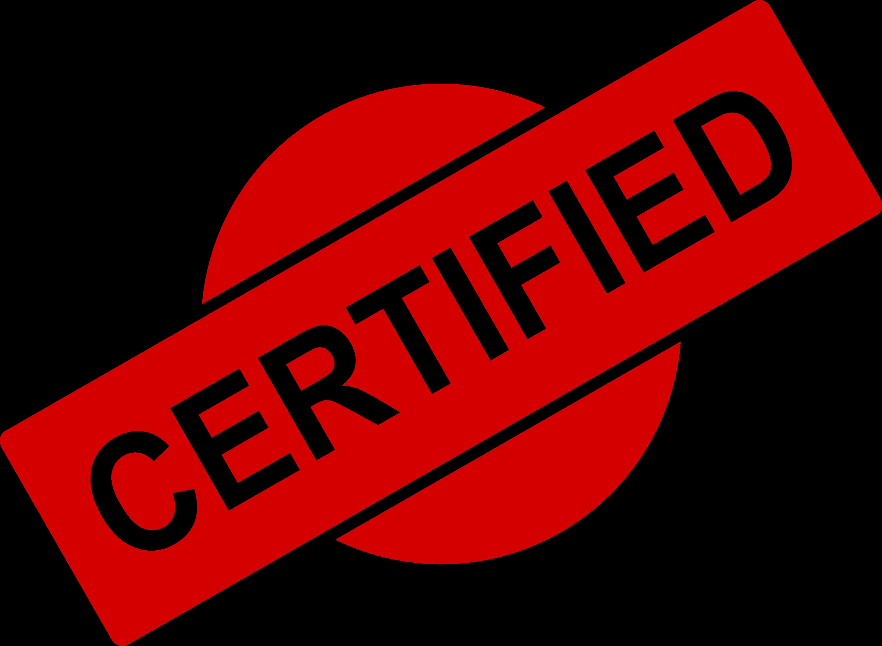 4 Certified Stamp (PNG Transparent).