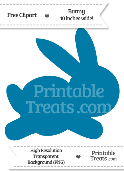 Cerulean Blue Bunny Clipart — Printable Treats.com.