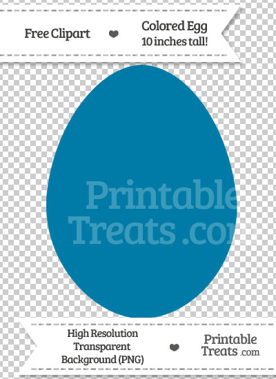 Cerulean Blue Egg Clipart — Printable Treats.com.