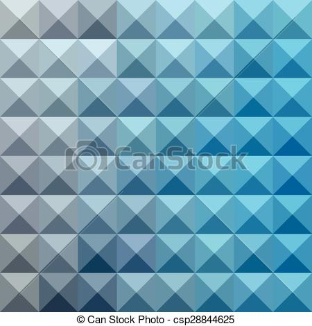 Vector Illustration of Bright Cerulean Blue Abstract Low Polygon.