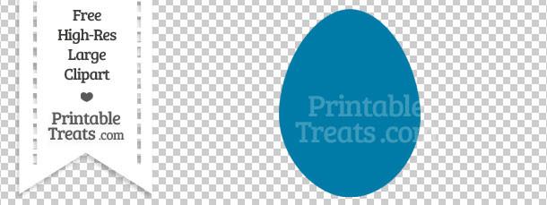 Cerulean Blue Egg Clipart — Printable Treats.com.