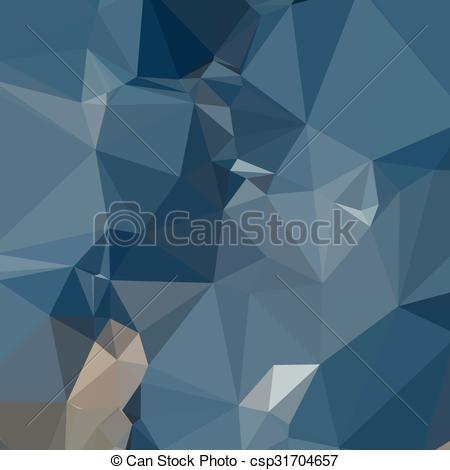 Clipart Vector of Cerulean Frost Blue Abstract Low Polygon.