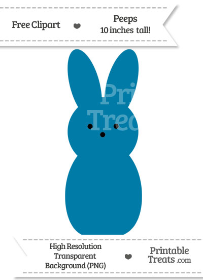 Cerulean Blue Peeps Clipart — Printable Treats.com.
