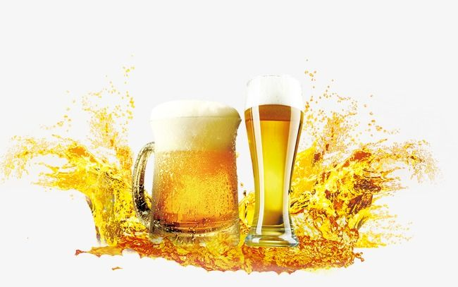 Beer, Liqueur, Wineglass PNG Transparent Clipart Image and PSD File.