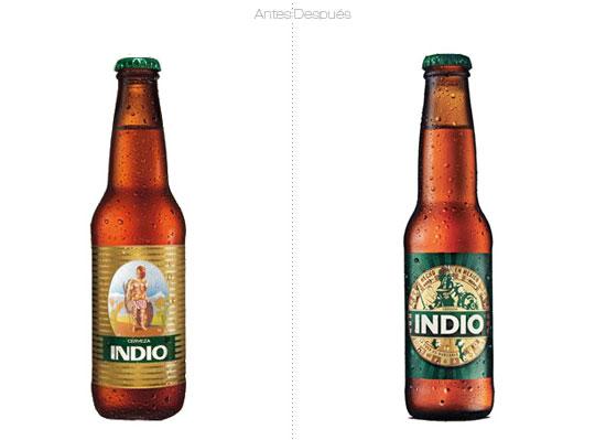 Cerveza Indio: Rediseño.