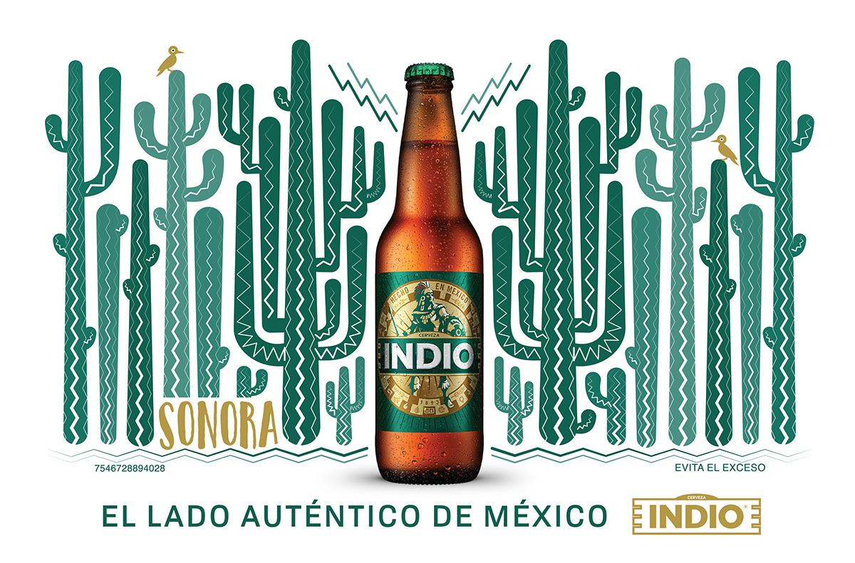 Carteleras Cerveza Indio.