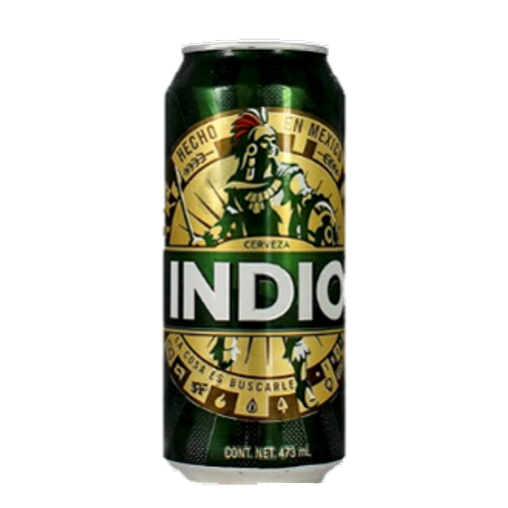 Cerveza indio lata 473 ml.