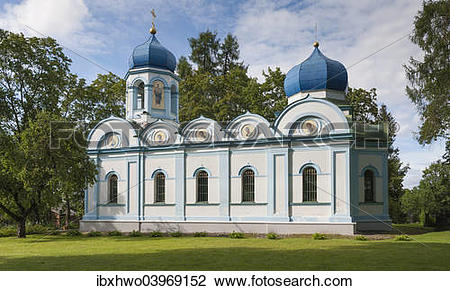 "Stock Photo of ""Russian Orthodox church, Cesis, Cesis District."