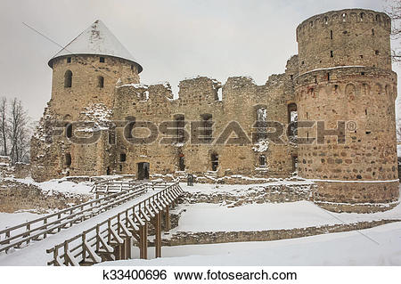 Stock Images of Ruins of Cesis castle, Latvia k33400696.