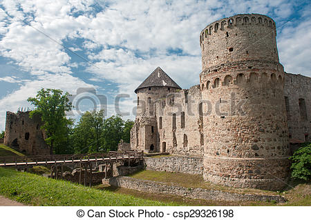 Stock Photographs of Castle in Cesis.