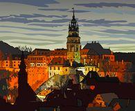 City Cesky Krumlov Czech Republic Stock Illustrations, Vectors.