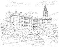 Cesky Krumlov Stock Illustrations.