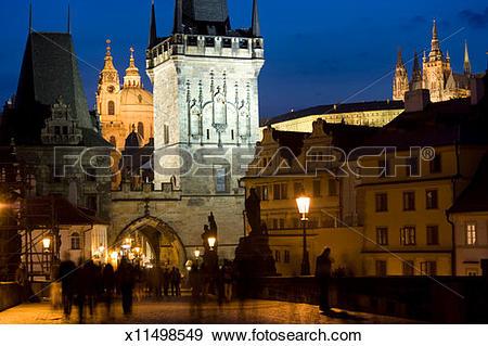 Stock Photograph of Czech Republic, Prague, Cesky Krumlov castle.