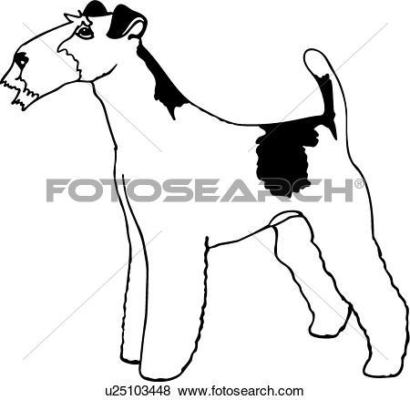 Clip Art of Fox Terrier u17678056.